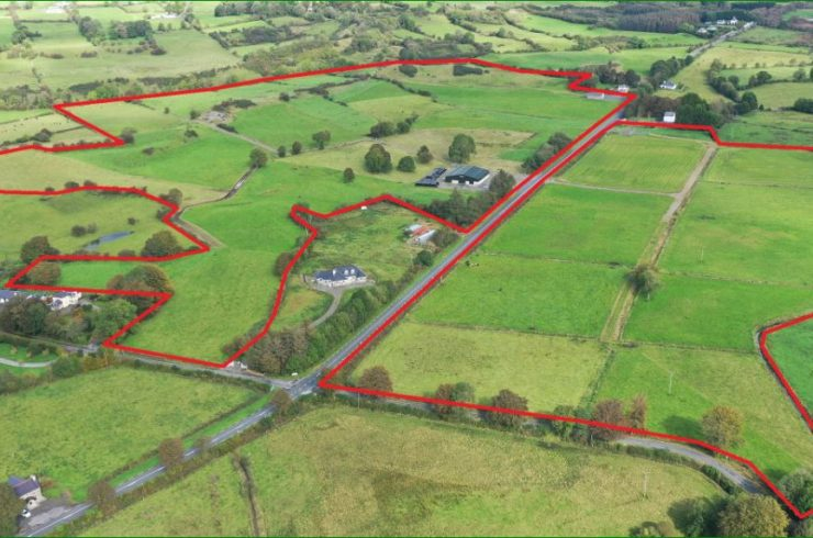 Pattenspark,Ballyhaunis,Co Mayo – 85 acres of Prime Lands with 10 Bay Slatted Shed