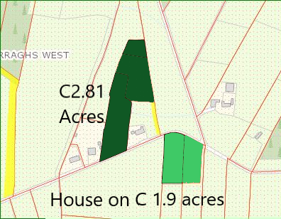Carraghs West,Ballinlough,Co Roscommon – Circa 2.81  acres of Road side Lands